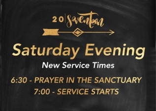 2017 // New Saturday Service Times